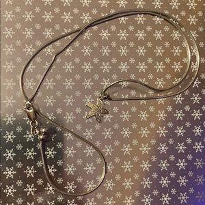 10k white gold diamond starfish necklace